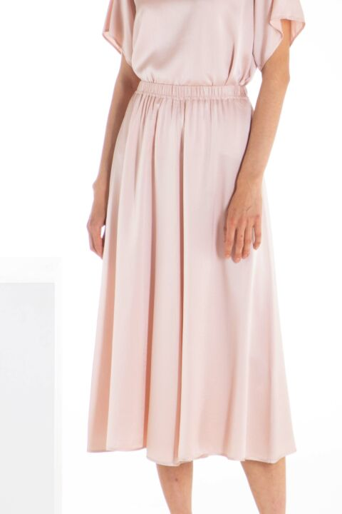 Old rose midi skirt