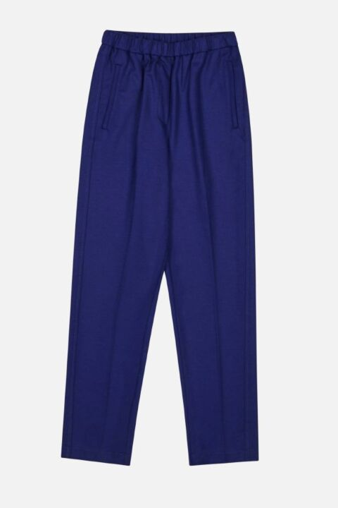 Loose dark blue trouser