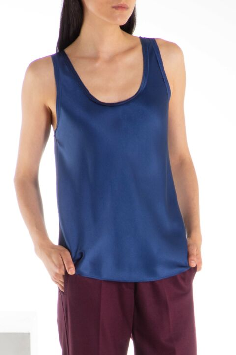 Dark blue sleeveless top