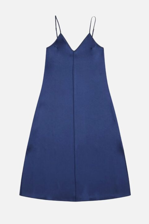 Long dark blue dress