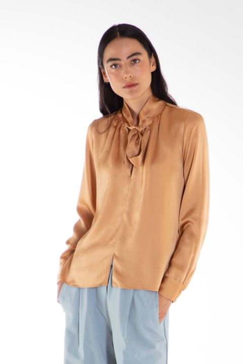 Silk camel blouse