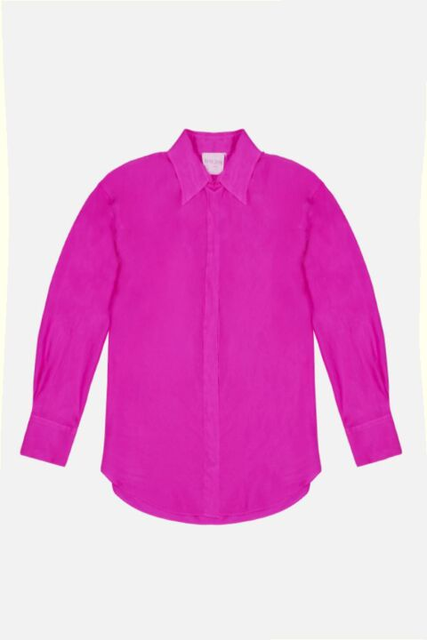 Fucsia shirt dress