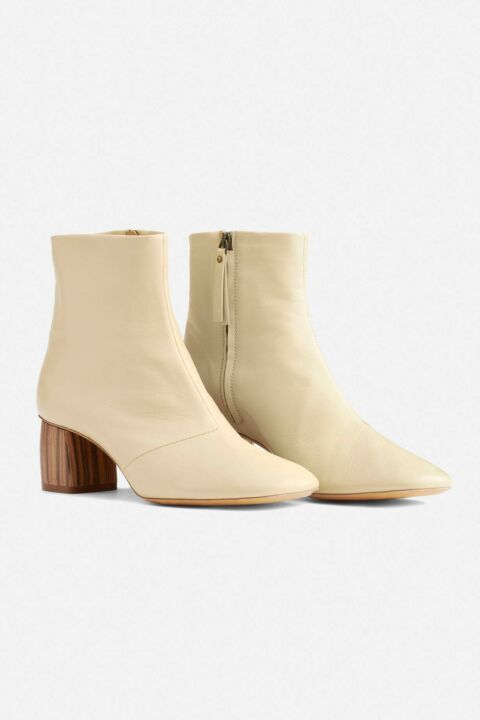 Ecru ankle boots