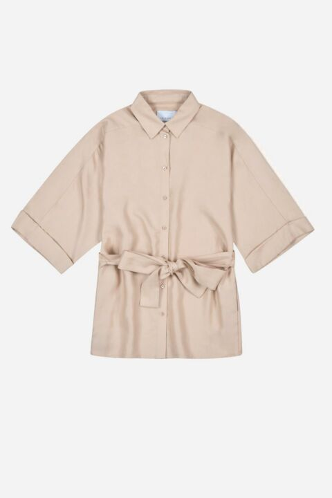 Beige colored shirt-blouse