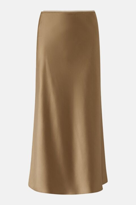 Taupe silk satin skirt