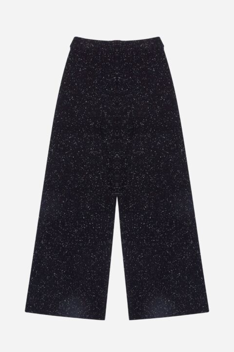 Knit black trousers