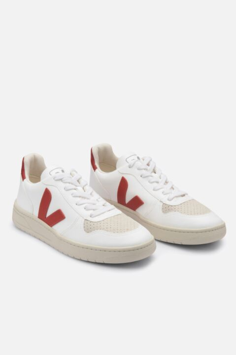 V-10 white/red sneakers