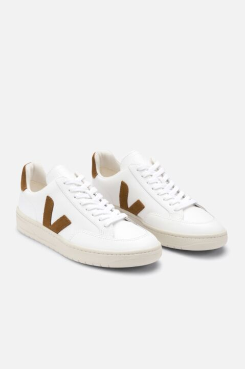 V-12 white/ camel sneakers
