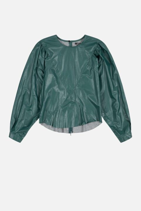 Emerald leather top
