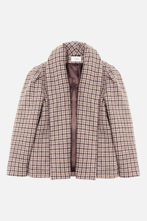 Checked woolen jacket