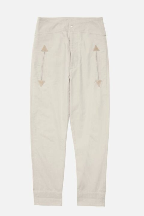 Beige straight-cut pants