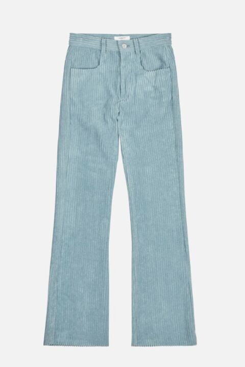 Celadon colored trousers
