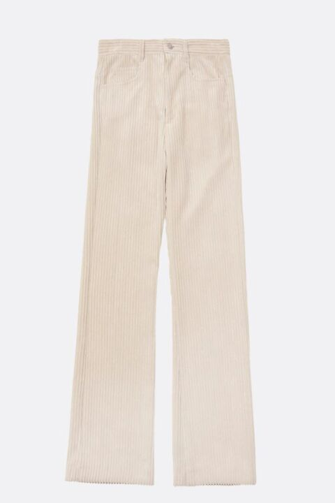 Beige bell-bottoms trousers