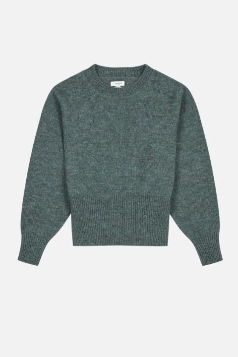 Greyish-blue knit sweater