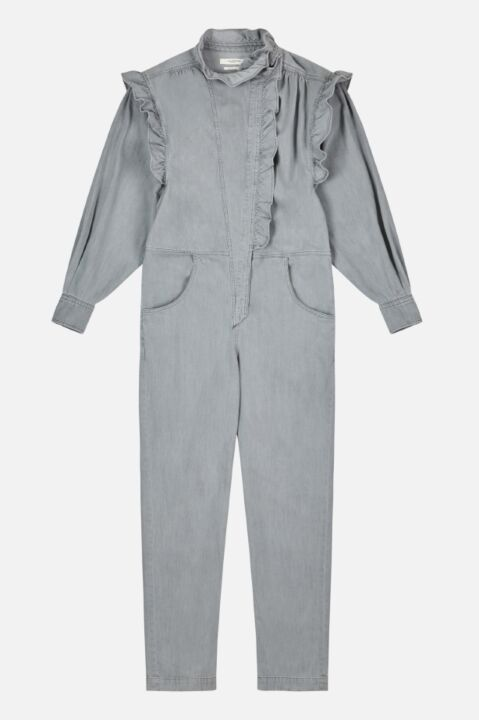 Ruffled grey jumpsuit