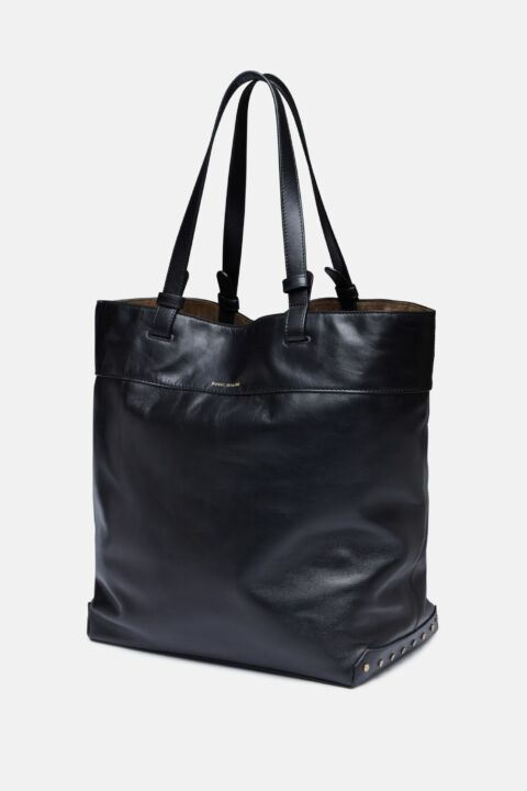Black leather seyroh bag