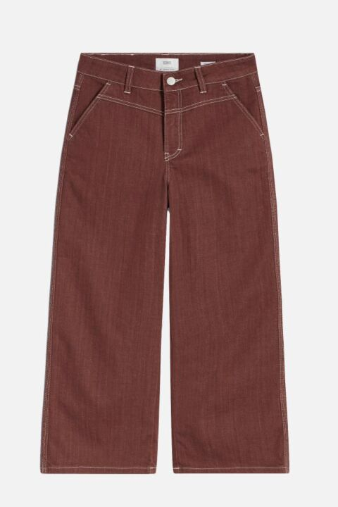 Cognac three-quarter trouser
