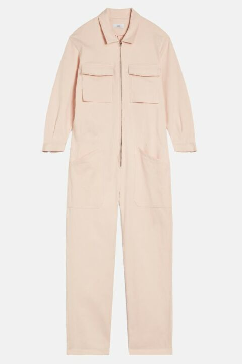 Long pink jumpsuit