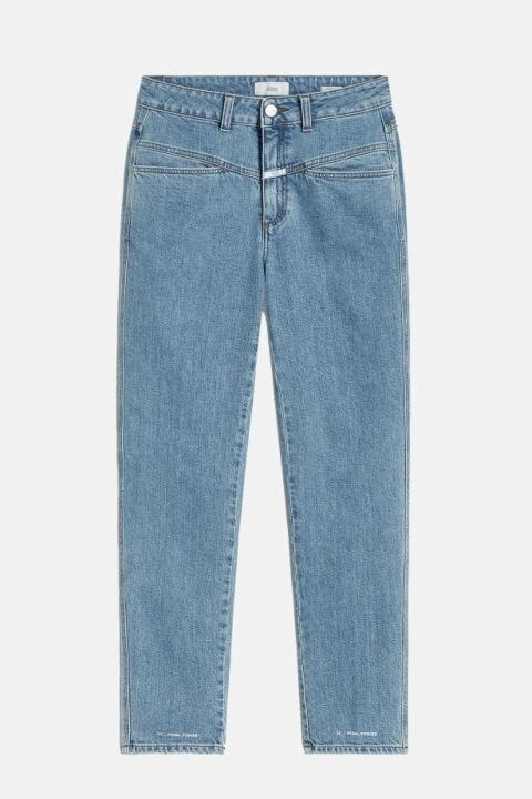 Stretch blue denim