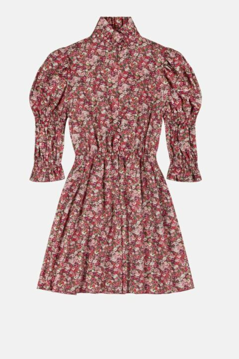 Mini floral padded dress