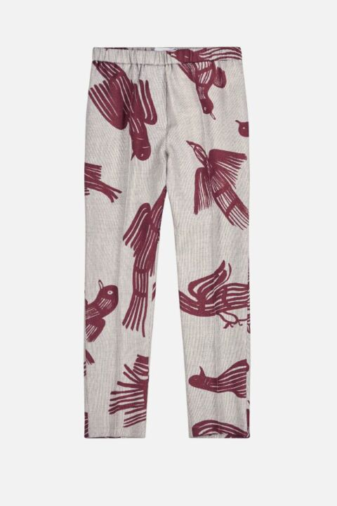 Alfred bordeaux print trousers