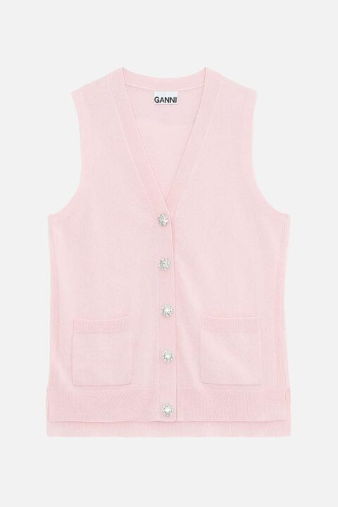 Pink sleeveles sweater