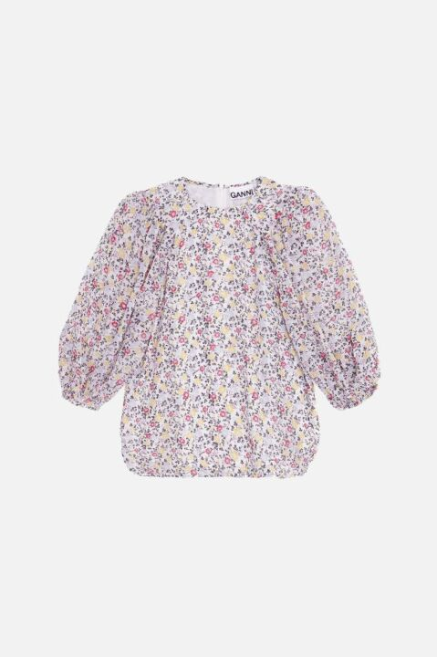 Balloon floral top