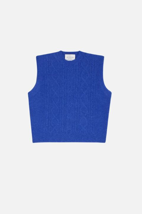 Lapiz blue sleeveless sweater
