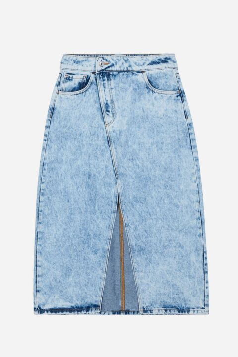 Acid denim skirt