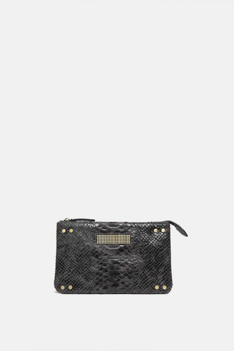 Mini python dark grey bag