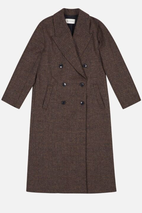 Brown colored trench coat