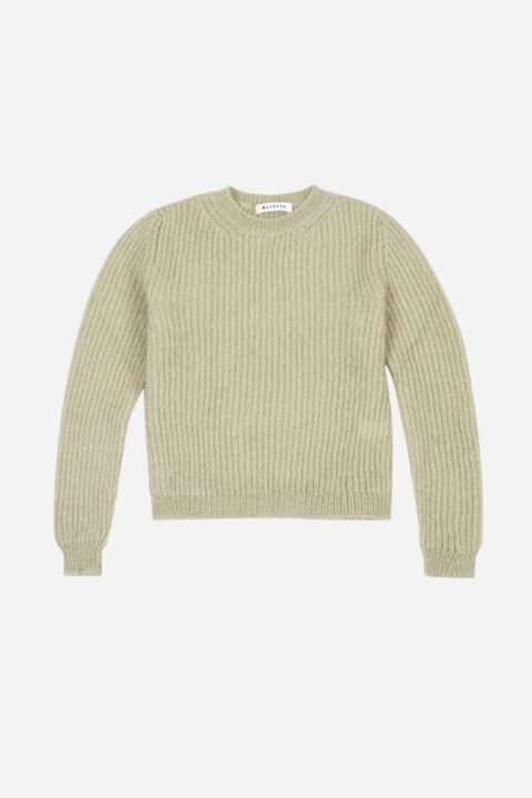 Almond colored ribbed sweater