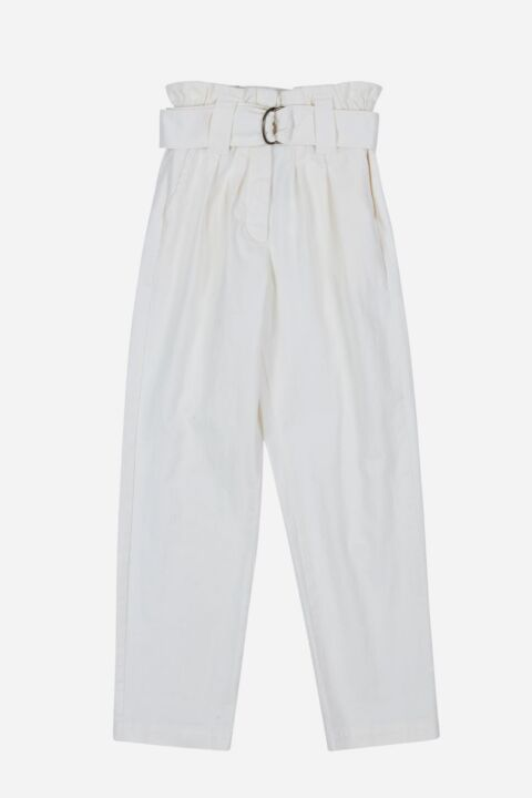 White high rise pants