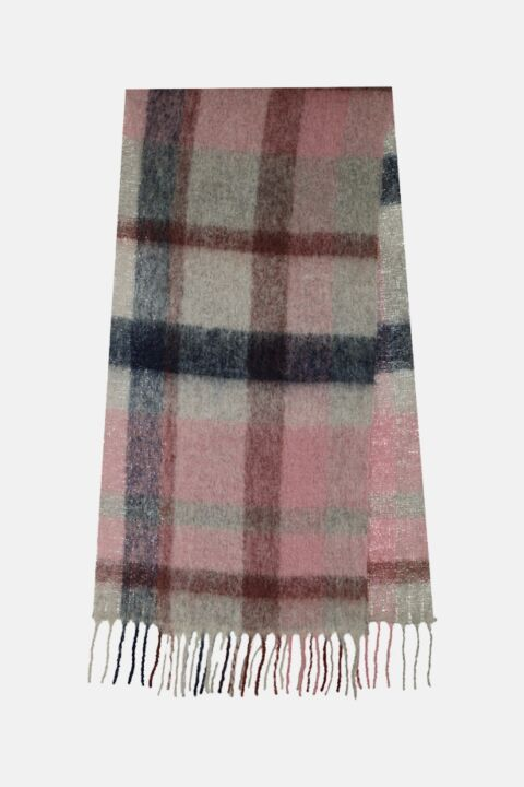 Checked scarf  vieux rose