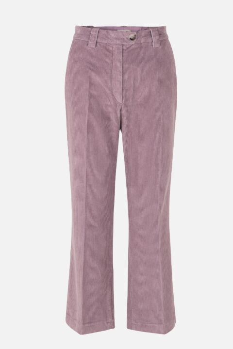 Lavender colored trousers