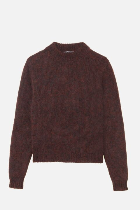 Mohair bordeaux sweater