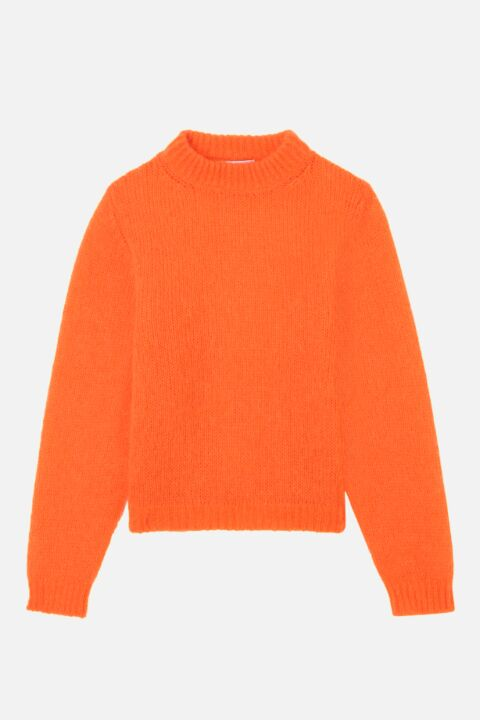 Mohair orange sweater