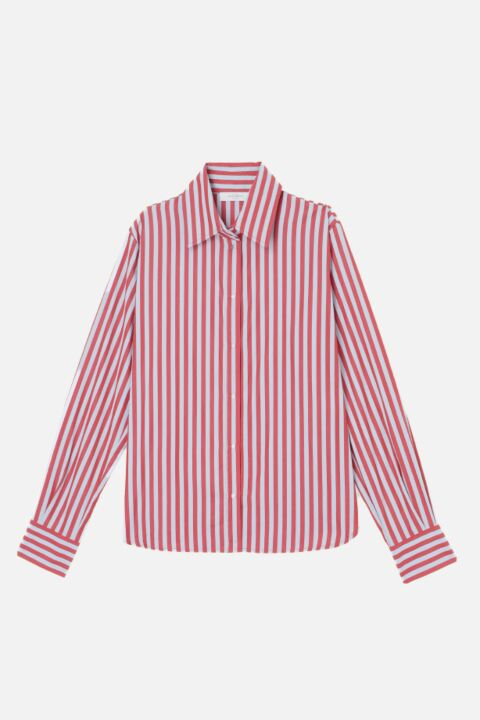 Striped italian cotton blouse