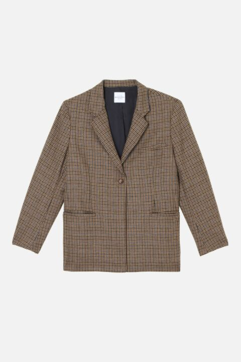 Checked beige blazer