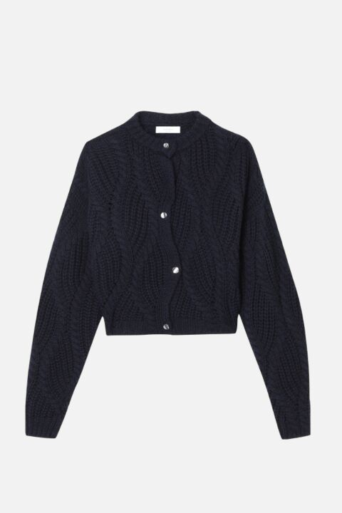 Divine knitted navy cardigan