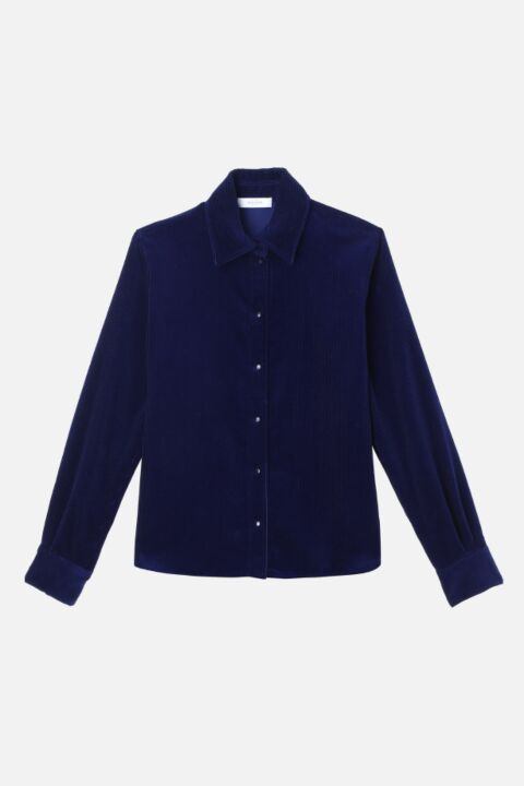Dark blue lucien blouse