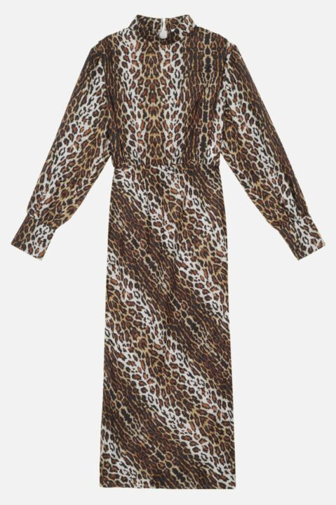 Long leopard dress