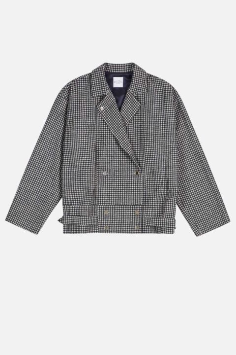Vichy colored woolen jacket