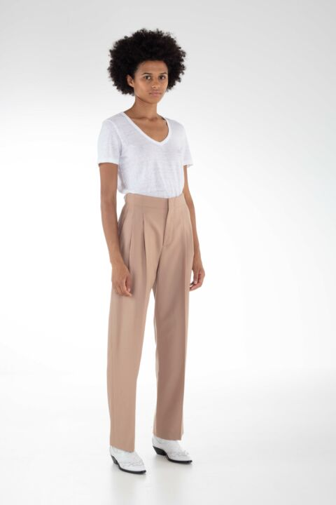Beige colored pants