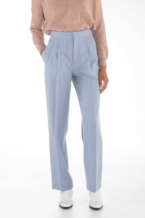 Light blue colored pants