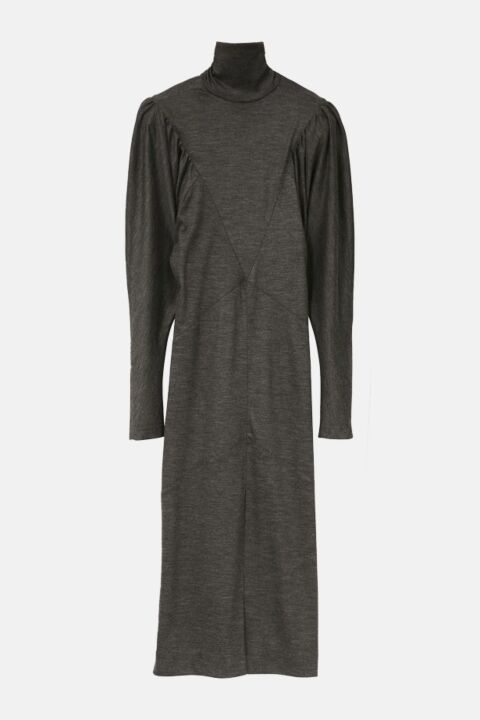 Long anthracite dress