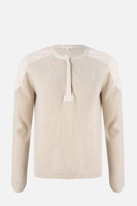 Creamy pearl sweater