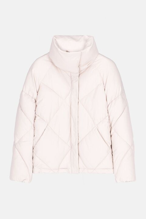 Padded jacket in white nylon