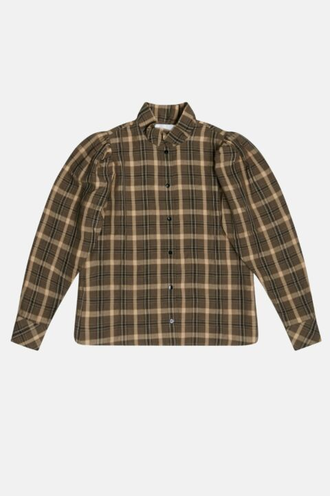 Checked shirt with collar