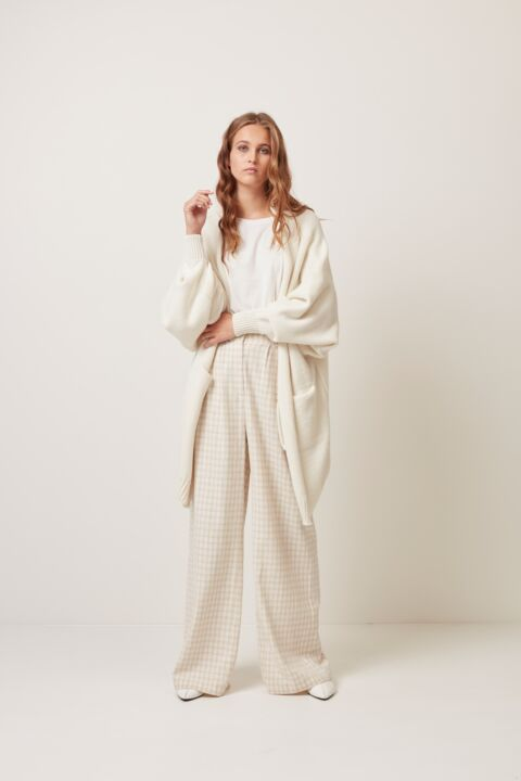 Mid length cotton cardigan